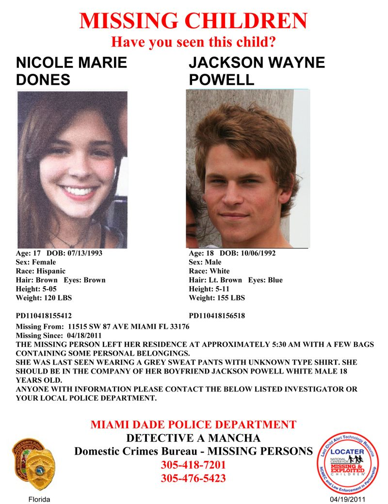 Missing Child Flyer-Jackson and Nicole